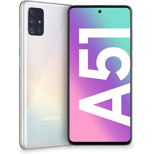 Samsung Phones Galaxy A51 128GB Dual Sim Prism Crush White - New Sim Free