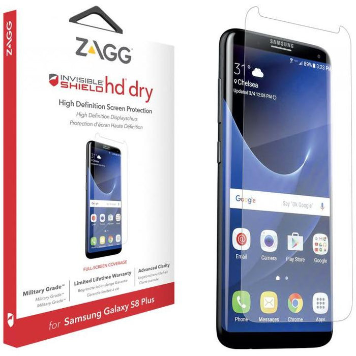 Zagg Screen Protectors Zagg InvisibleShield HD Screen Protector for Samsung Galaxy S8 Plus