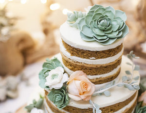 Simplicity At It's Best: A Naked Wedding Cake