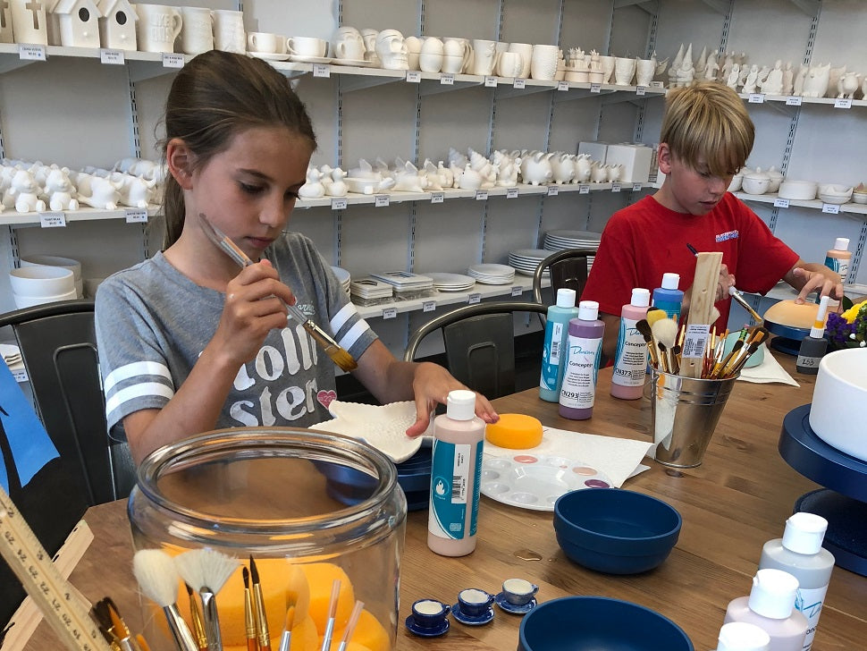 Pottery Painting Parties at Charmios in Newtown