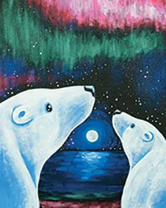 ARCTIC AURORA, Adult Canvas Design - 3 Hours