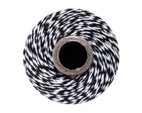 Black and White Baker's Twine 240 Yards Spool