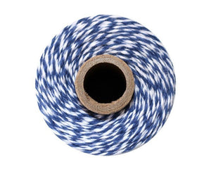 Navy Blue and White Bakers Twine