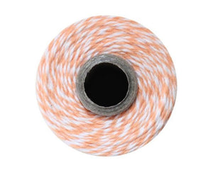 Baker's Twine - Cantaloupe Orange And White Baker's Twine, 240 Yd Spool