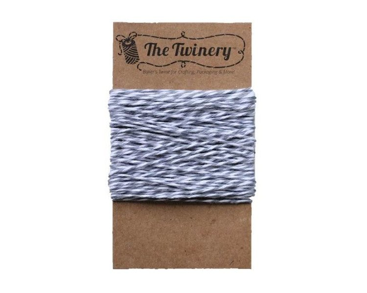 Stone Gray and White Baker's Twine