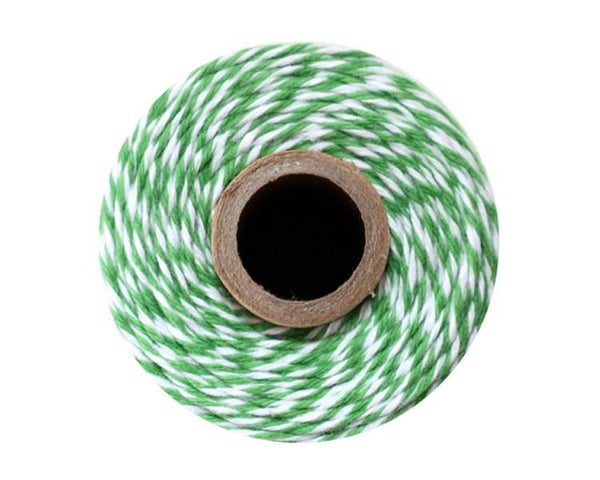 Green and White Baker's Twine