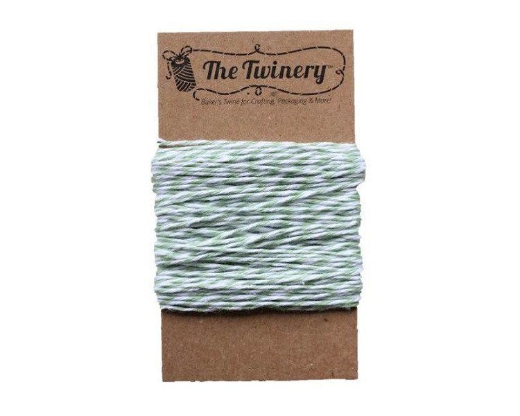 Seaweed Green and White Baker's Twine