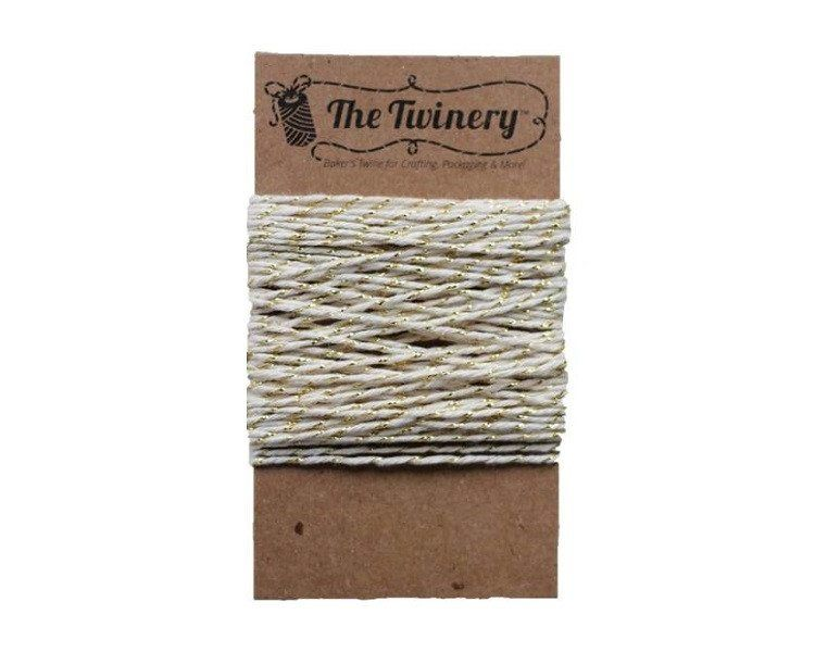 Gold and White Bakers Twine