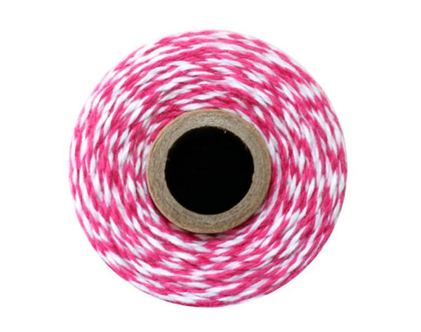 Pink And White Striped Twine
