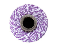 Purple and White Baker's Twine 240 Yards Spool