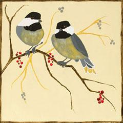 Canvas Designs - Chickadees & Berries, Adult Canvas Design - 2.5 Hours