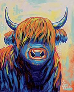 Canvas Designs - Highland Cow, Adult Canvas Design - 2 Hours