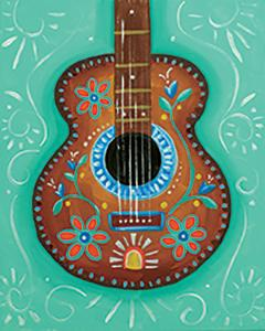 Canvas Designs - Mexican Guitar, Adult Canvas Design - 2.5 Hours