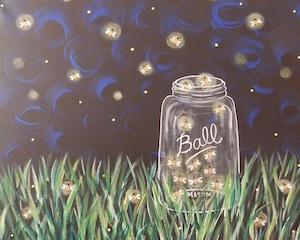 Catchin' Fireflies, Teen And Adult Canvas Design - 2.5 Hours