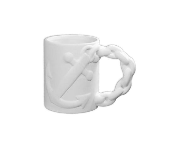 Ceramic Bisque - Anchor Mug