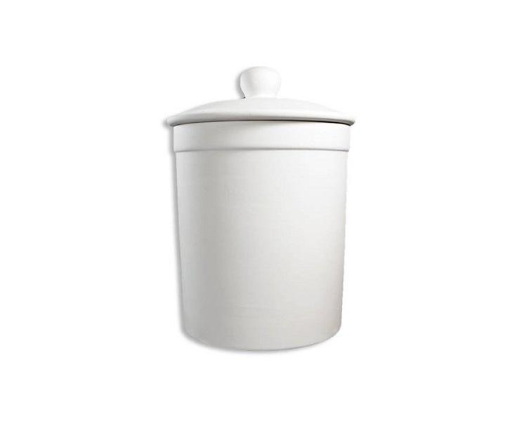 Ceramic Bisque - Canister With Seal, Medium