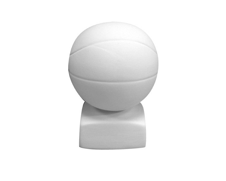 Ceramic Bisque - Ceramic Bisque Basketball Bank, 1 Pc