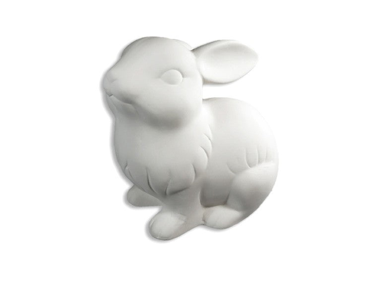 Ceramic Bisque - Ceramic Bisque Bunny Rabbit Figurine, 1 Pc