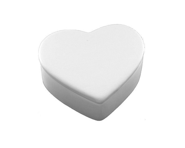 Ceramic Bisque - Ceramic Bisque Heart Box, 1 Pc