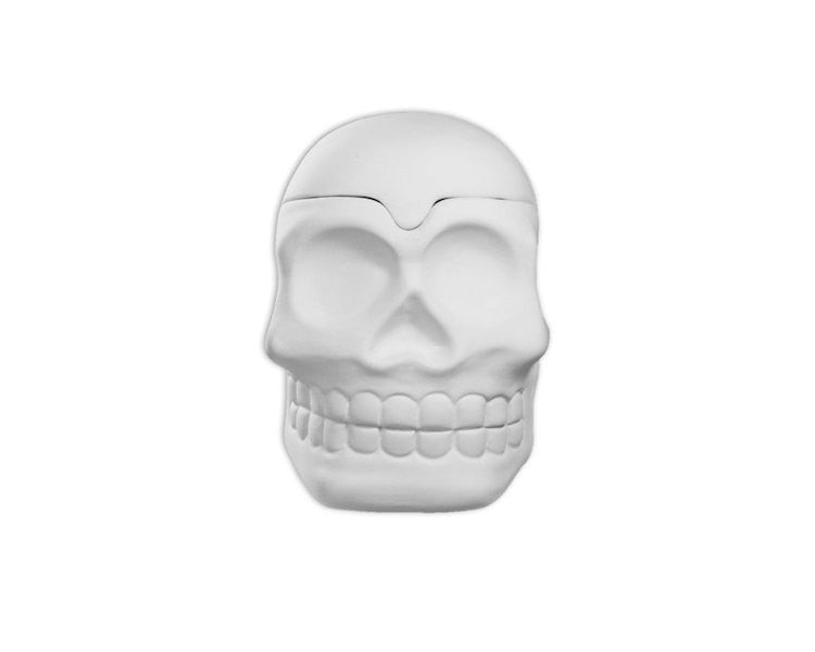 Ceramic Bisque - Ceramic Bisque Skull Box, 1 Pc