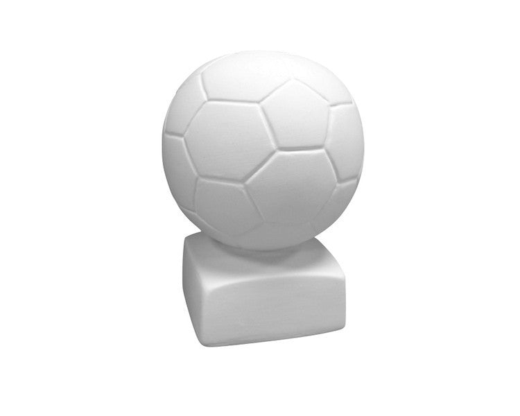 Ceramic Bisque - Ceramic Bisque Soccer Ball Bank, 1 Pc