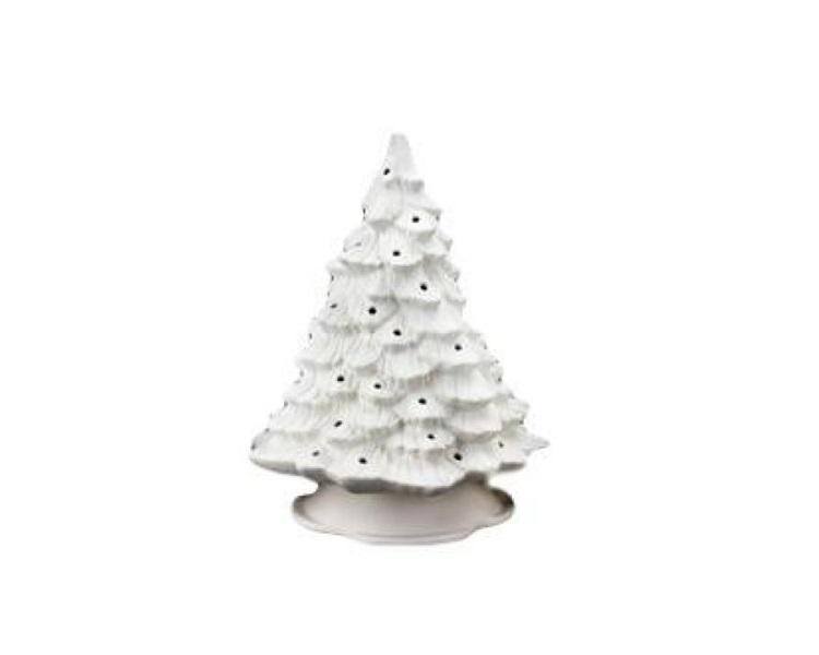 Ceramic Bisque - Christmas Tree Bisque With Base And Lights, Classic