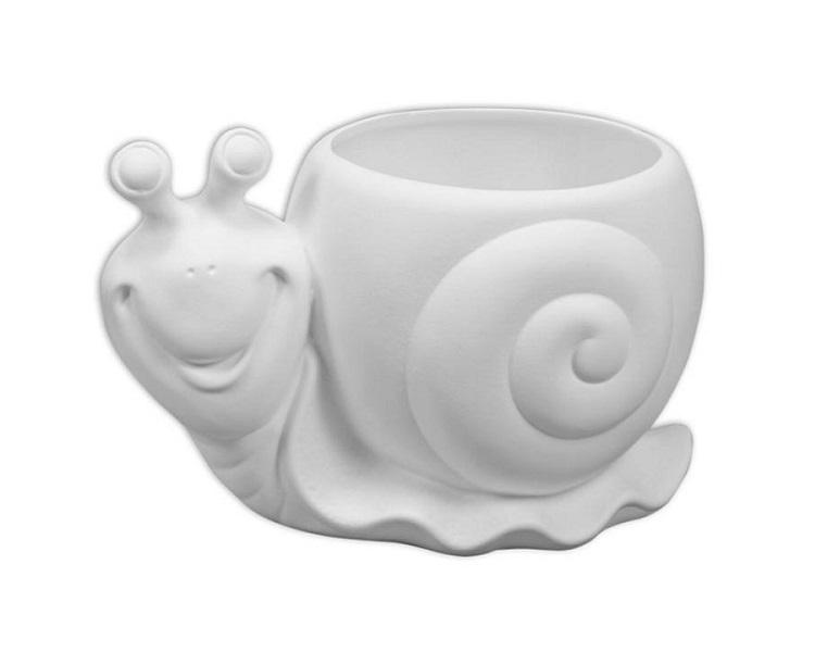 Ceramic Bisque - Snail Planter