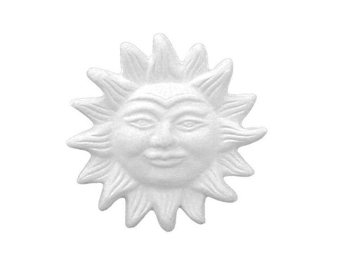 Ceramic Bisque - Sun Plaque With Mounting Hole