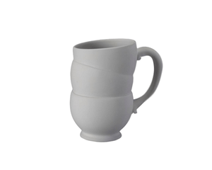 Ceramic Bisque - Tipsy Teacup Mug - 16 Oz