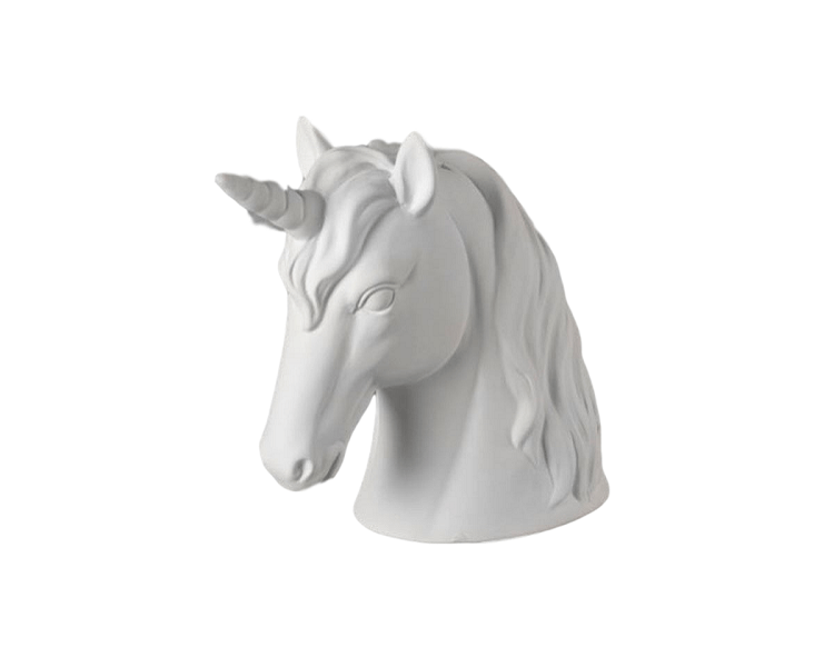 Ceramic Bisque - Unicorn Head Bank