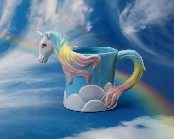 Ceramic Bisque - Unicorn Mug With Clouds