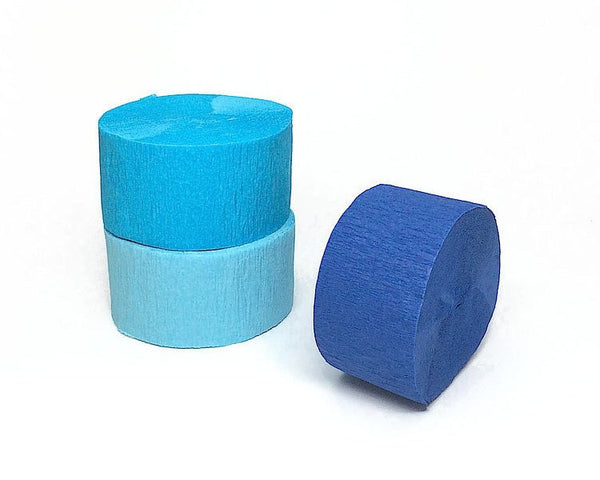 Blue Crepe Paper Streamers