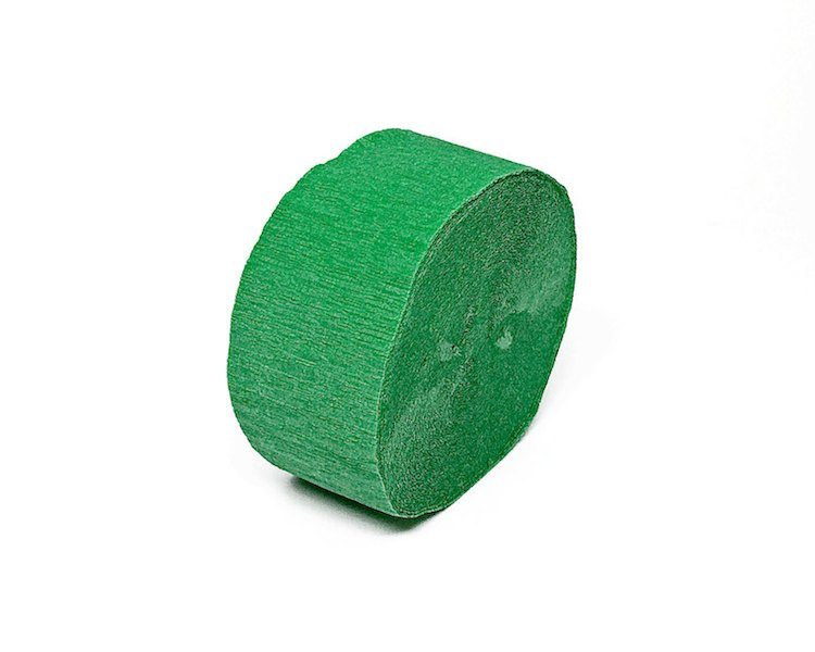 Crepe Paper Streamers - Emerald Green Crepe Paper Streamer Roll, Sizes 1.75 Inch X 81 Or 150 Feet, 1 Pc