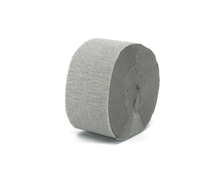 Gray Crepe Paper Streamers