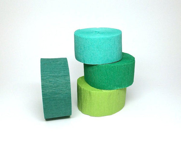 Crepe Paper Streamers - Hunter Green Crepe Paper Streamer Roll, Sizes 1.75 Inch X 81 Or 150 Feet, 1 Pc