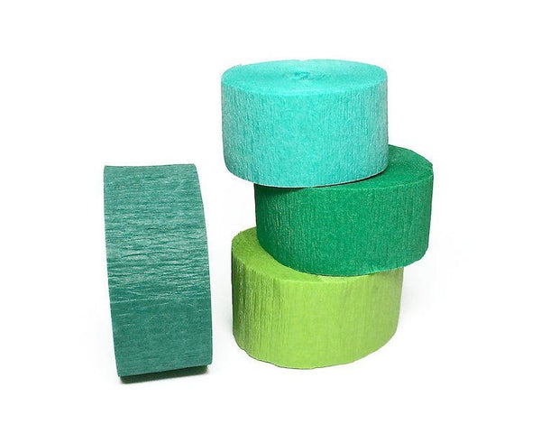 Crepe Paper Streamers - Light Green Crepe Paper Streamer Roll, Sizes 1.75 Inch X 81 Or 150 Feet, 1 Pc