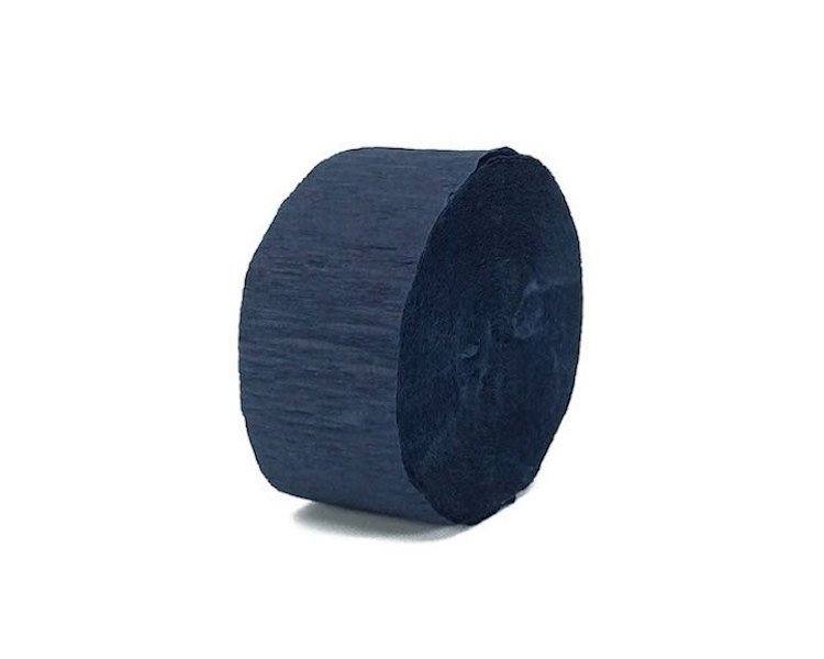 Navy Blue Crepe Streamers