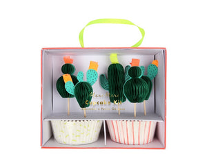 Cupcake Liners - Cactus Cupcake Liner And Topper Kit