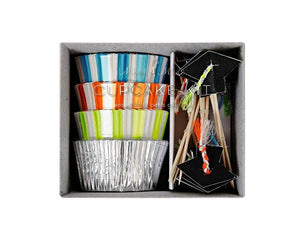 Cupcake Liners - Graduation Cupcake Liner And Topper Kit