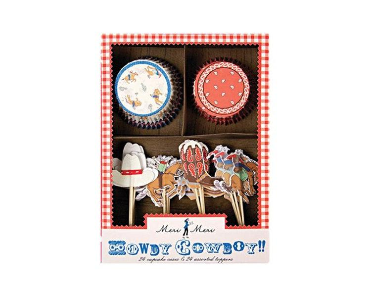 Cupcake Liners - Howdy Cowboy Cupcake Liner And Topper Kit