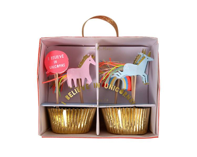 Cupcake Liners - Rainbows And Unicorns Cupcake Liner And Topper Kit, 48 Pcs