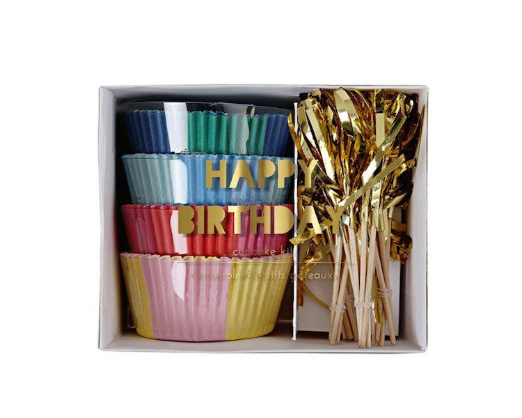 Cupcake Liners - Toot Sweet Happy Birthday Cupcake Kit, 60 Pcs