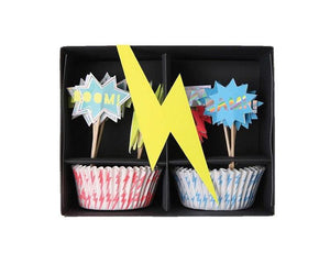Cupcake Liners - Zap! Super Hero Cupcake Liner And Topper Kit