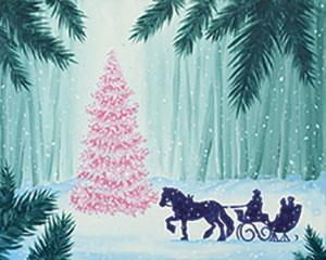 Evening Sleigh Ride, Adult Canvas Design - 2.5 Hours