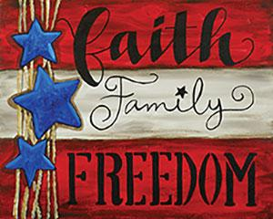Faith Family Freedom, Teen And Adult Canvas Design - 2.5 Hours