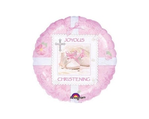 Foil Balloons - Christening Pink Foil Balloon - 18 Inch