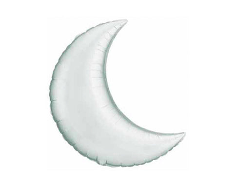 Foil Balloons - Crescent Moon Silver Foil (Mylar) Balloons - 36 Inch