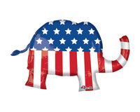 Foil Balloons - Elephant Republican Foil (Mylar) Balloons - 40 Inch, 1 Pc