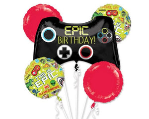 Foil Balloons - Epic Birthday Game Controller Foil Balloon Bouquet