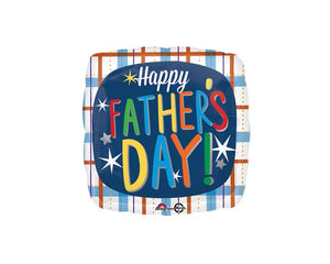 Foil Balloons - Father's Day Plaid Foil (Mylar) Balloons - 18 Inch